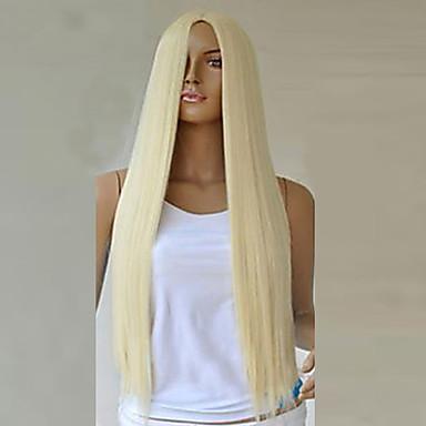 Sentetik Peruklar Sentetik Saç Sarışın Peruk Kadın's Uzun