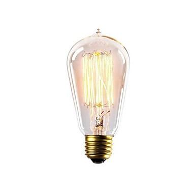 e27 ac220-240v 40W st58z izzók világítás antik Edison halogén izzók