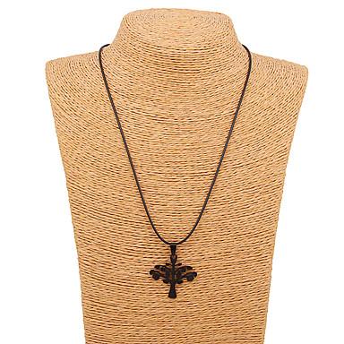 1db fekete levelek könnyűfém nyaklánc lánc