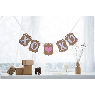 결혼식 / 기념일 / 약혼 / 처녀 파티 하드 카드 용지 웨딩 장식 비치 테마 / 가든 테마 / 꽃 테마 겨울 봄 여름 가을