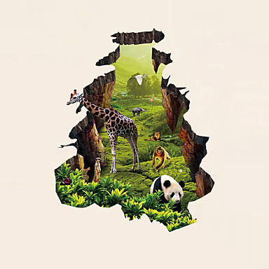 Fali matrica Dekoratív falmatricák - 3D-s falmatricák Absztrakt Landscape Állatok Romantika Divat Történelem 3D Ünneő Rajzfilm Fantasy