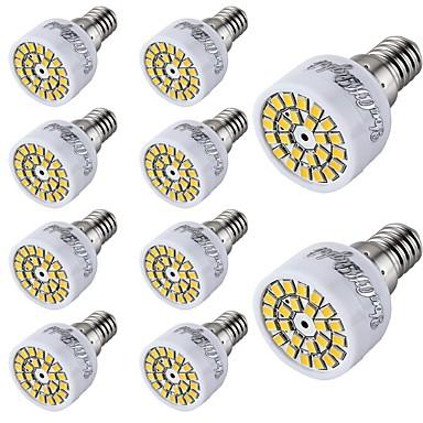10pcs 2 W 150-200 lm E14 Spot LED T 24 Perles LED SMD 2835 Décorative Blanc Chaud / Blanc Froid 220-240 V / 10 pièces