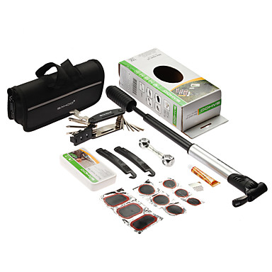 휴대용 미니 펌프 자전거 수리 도구 1 자전거 자전거 타이어 수리 멀티 도구 세트 키트에 sahoo (16)