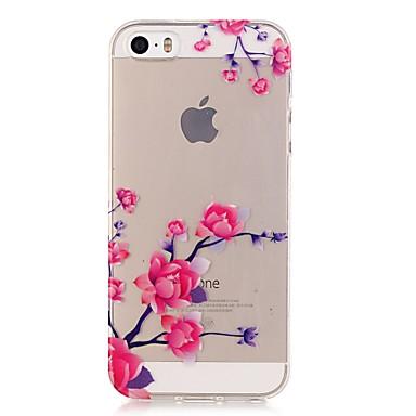 Case Kompatibilitás iPhone 5 tok Átlátszó Minta Hátlap Virág Puha TPU mert iPhone 7 Plus iPhone 7 iPhone SE/5s iPhone 5