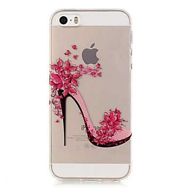 케이스 제품 아이폰5케이스 투명 뒷면 커버 섹시 레이디 소프트 TPU 용 iPhone SE/5s iPhone 5