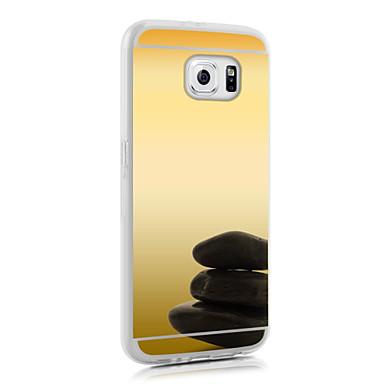 espelho ultra slim acrílico transparente + TPU suave para Galaxy S3 / S4 / S5 / S6 / S6 EDGE EDGE / S6 mais