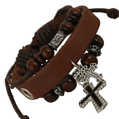 voordelige Heren Armband-Heren Lederen armbanden Leder Armband sieraden Koffie Voor Bruiloft Feest Dagelijks Causaal Sport
