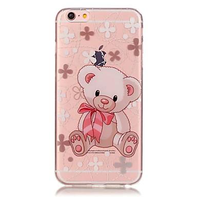 TPU medve virágmintás átlátszó puha hátsó tok iPhone 6s 6 plus