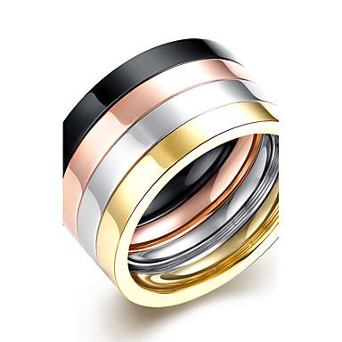 Heren Ring Sieraden Cirkelvormig ontwerp Dubbele laag Multi-ways Wear Kostuum juwelen Titanium Staal Ronde vorm Sieraden Voor Dagelijks
