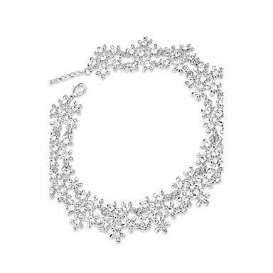 Női Luxus Divat Európai Nyakláncok Strassz Hamis gyémánt Ötvözet Nyakláncok , Parti Napi Hétköznapi
