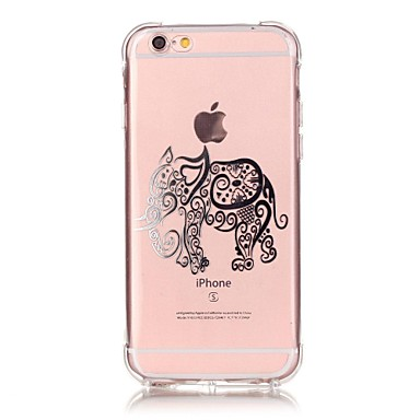 Mert iPhone 6 tok / iPhone 6 Plus tok Ütésálló / Átlátszó / Other Case Hátlap Case Elefánt Puha TPU AppleiPhone 7 Plus / iPhone 7 /