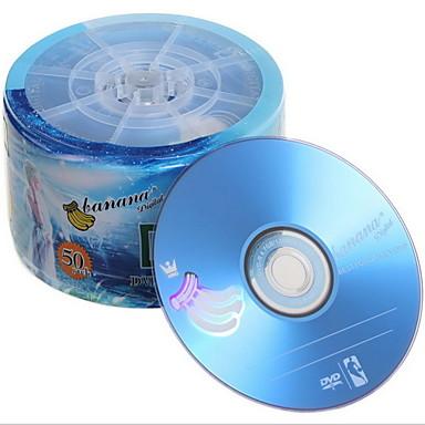 영화 / 음악 / 데이터 저장을위한 바나나 DVD-R 16 배속 50PCS 600PCS / CTN 4.7GB 공 DVD