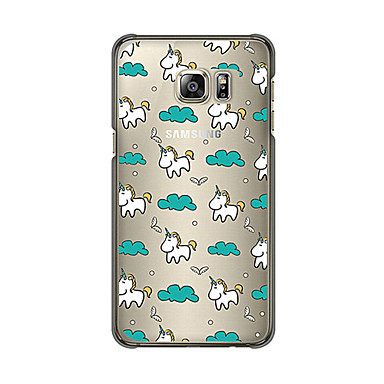 Para Samsung Galaxy Capinhas Transparente / Estampada Capinha Capa Traseira Capinha Azulejos TPU SamsungS6 edge plus / S6 edge / S6 / S5