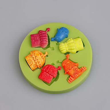 그놈 집 요정 정원 코티지 실리콘 금형 케이크 장식 사탕 공예 도구 초콜릿 캔디 색상을 임의로 만들다.