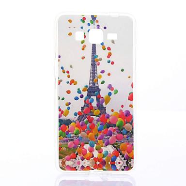 Case Kompatibilitás Samsung Galaxy Samsung Galaxy tok Minta Fekete tok Eiffel torony Puha TPU mert Grand Prime Grand Neo Core Prime