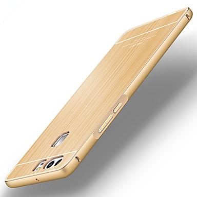 백 울트라-씬 한색상 메탈 하드 metal bumper brushed back cover 케이스 커버를 들어 Huawei 화웨이 P9