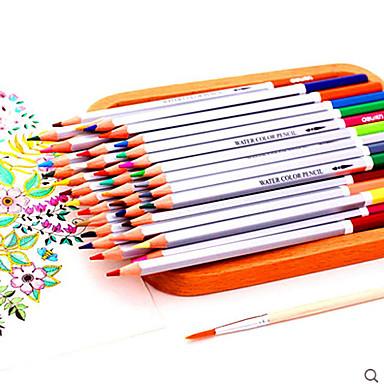 Kurşun 24 Renk Kalem Boyama Boyama Boya Kalemi Boya Suda çözünür