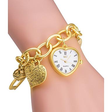 levne Pánské-ASJ Dámské Módní hodinky Náramkové hodinky zlaté hodinky japonština Křemenný Japonské Quartz Stříbro / Zlatá 30 m / Analogové dámy Heart Shape - Stříbrná Zlatá