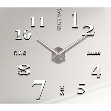 Fali matrica Dekoratív falmatricák Matrica órák - 3D-s falmatricák Divat Újra-pozícionálható Eltávolítható