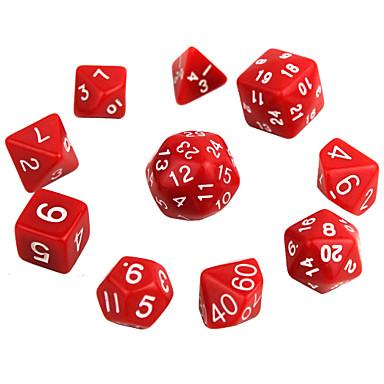 Dobókocka Polyhedral Dice Set Játékok Tökéletes Móka Kényelmes Multi Function Akril 10 Darabok Ajándék