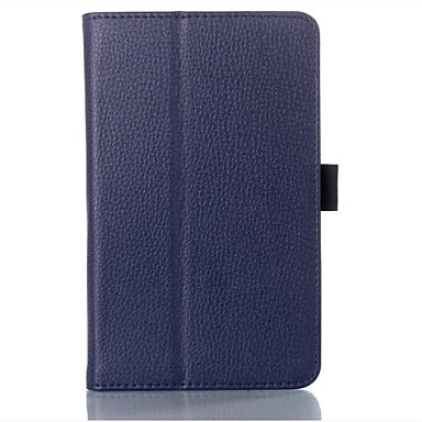Case For Full Body Cases Tablet Cases Solid Colored Hard PU Leather for