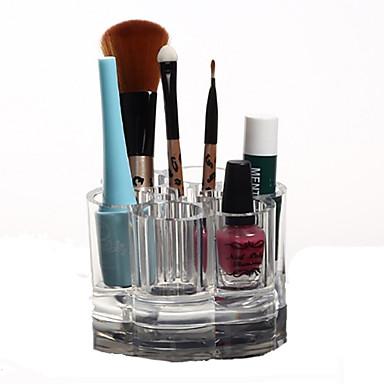 Makyaj Aletleri Cosmetics Storage Makyaj 1 pcs Arkilik / Plastik Yuvarlak Günlük Kozmetik Tımar Malzemeleri