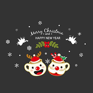 크리스마스 벽 스티커 플레인 월스티커 데코레이티브 월 스티커 자료 물 세탁 가능 이동가능 재부착가능 홈 장식 벽 데칼