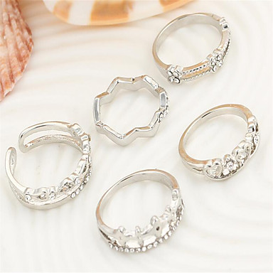 Gyűrűk Divat / Imádni való Parti / Napi / Hétköznapi Ékszerek Női Midi gyűrűk 5pcs,Egy méret Aranyozott / Ezüst