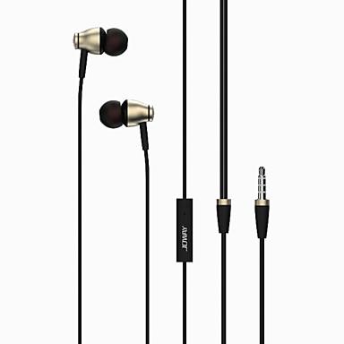 Joway Joway HP27 귀에 유선 헤드폰 동적 Aluminum Alloy 모바일폰 이어폰 마이크 포함 볼륨 컨트롤 하이파이 헤드폰