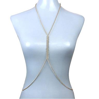 Női Testékszer Deréklánc Body Lánc / Belly Chain Szexi Divat Európai Arannyal bevont Ékszerek Kompatibilitás Napi Hétköznapi