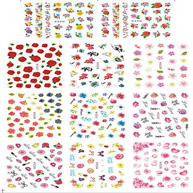 1 Nail Art matrica Víz Transfer matrica Körömfestés tippek Virág Absztrakt Rajzfilmfigura Szeretetreméltő Esküvő smink Kozmetika Nail Art