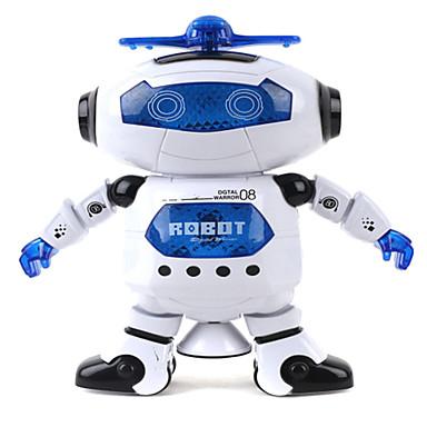 Robot LED Lighting Toys Music Singing Dancing Walking 360° Rotation Multi Function ABS Girls' Boys' 1 Pieces