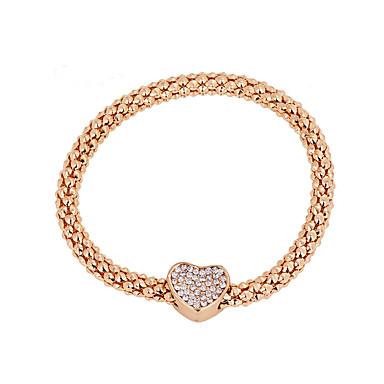 Női Elbűvölő karkötők Divat luxus ékszer Európai Hamis gyémánt Ötvözet Vörös arany Ékszerek Mert Napi Hétköznapi 1db