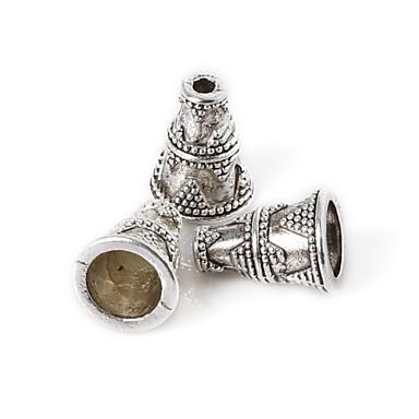 beadia 10db antik ezüst ötvözet gyöngyök 9x12mm távtartó gyöngyök&gyöngyök sapka