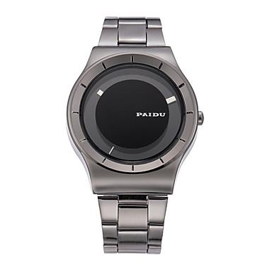 남성용 패션 시계 석영 일본 쿼츠 방수 캐쥬얼 시계 합금 밴드 실버 그레이 골드