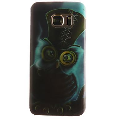 Недорогие Чехлы и кейсы для Galaxy S6 Edge-Кейс для Назначение SSamsung Galaxy S7 edge / S7 / S6 edge С узором Кейс на заднюю панель Животное Мягкий ТПУ