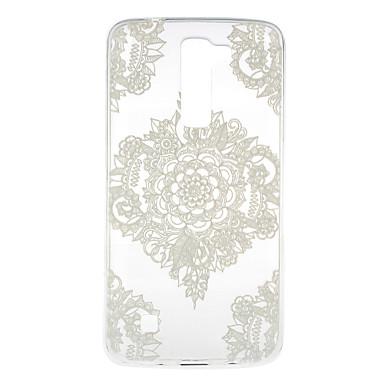 Mert LG tok Átlátszó / Minta Case Hátlap Case Csipke dizájn Puha TPU LG J5 (2016) / LG K10 / LG K7 / LG G5 / LG G4 / LG V10