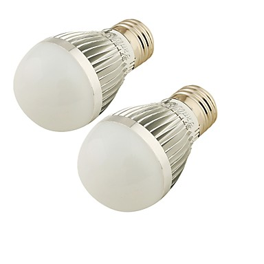 5W E26/E27 LED gömbbúrás izzók A60(A19) 6 SMD 2835 300 lm Hideg fehér Állítható / Dekoratív AC 220-240 V 2 db.