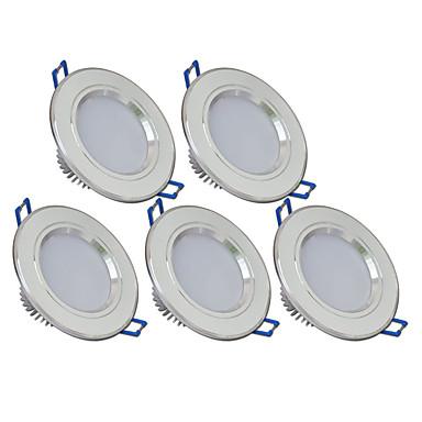 270lm 6 LED 쉬운 설치 매입형 LED 스포트라이트 따뜻한 화이트 차가운 화이트 AC 85-265V