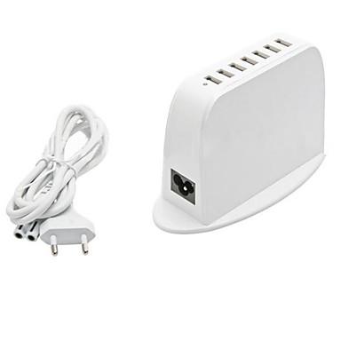 EU csatlakozó Telefon USB töltő Multi port cm Outlets 7 USB port 2.1A 2A 1A 0.5A AC 100V-240V