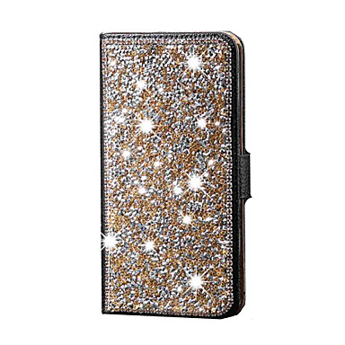 Capinha Para Samsung Galaxy Samsung Galaxy Capinhas Com Strass Corpo Inteiro Glitter Brilhante Couro Ecológico para S6 edge plus S6 edge