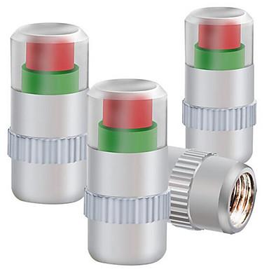 négy telepített fémsapkával abroncsnyomás-ellenőrző keréknyomás szelepsapka