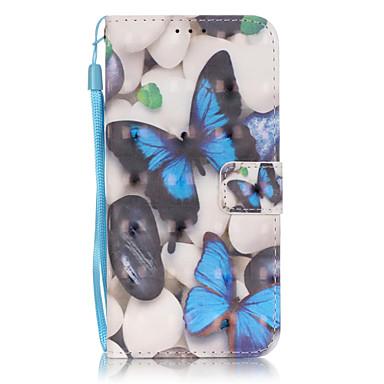 Mert Samsung Galaxy S7 Edge Kártyatartó / Pénztárca / Állvánnyal / Flip / Minta Case Teljes védelem Case Pillangó Puha Műbőr SamsungS7