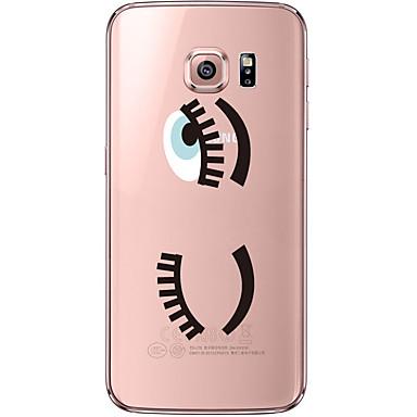 용 Samsung Galaxy S7 Edge 투명 / 패턴 케이스 뒷면 커버 케이스 섹시 레이디 소프트 TPU Samsung S7 edge / S7 / S6 edge plus / S6 edge / S6
