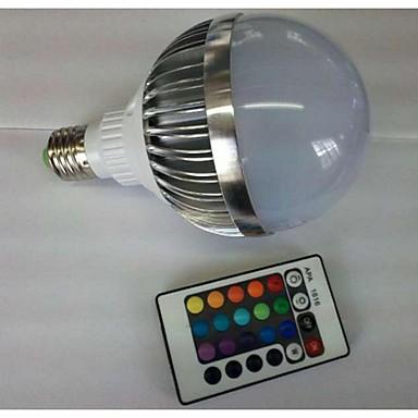700-900 lm E26/E27 LED 글로브 전구 G80 1 LED가 고성능 LED 리모컨 작동 RGB AC 85-265V