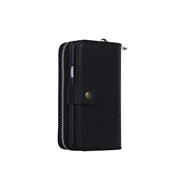 Capinha Para Samsung Galaxy Samsung Galaxy Capinhas Porta-Cartão Carteira Magnética Capa Proteção Completa Côr Sólida Macia PU Leather