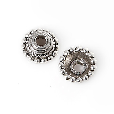 beadia 10db antik ezüst ötvözet gyöngyök 7x3mm távtartó gyöngyök&gyöngyök sapka