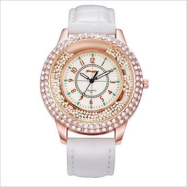 여성용 패션 시계 플로팅 크리스탈 시계 석영 캐쥬얼 시계 합금 밴드 블랙 화이트 레드 핑크 로즈