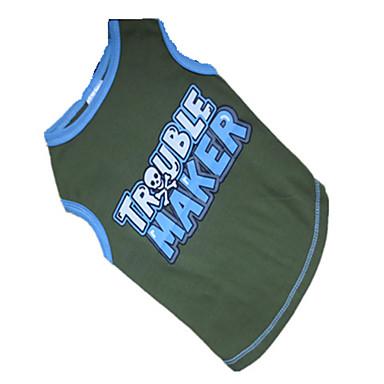 Hond T-shirt Hondenkleding Ademend Letter & Nummer Blauw/Groen Kostuum Voor huisdieren