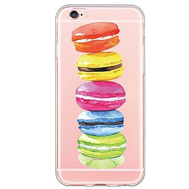 Case Kompatibilitás Apple iPhone 6 iPhone 6 Plus Átlátszó Fekete tok Élelem Puha TPU mert iPhone 6s Plus iPhone 6s iPhone 6 Plus iPhone 6